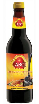 (Indonesia; Commercial): ABC Medium Sweet Soy. Naturally sweetened with sun dried palm sugar