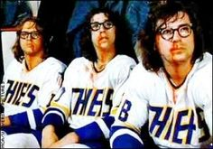 Slapshot and the Hanson Bros. Old time hockey!