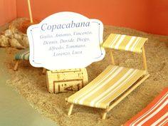 "3d table plan, ""Beaches of the world"" model, ""Copacabana"" table"