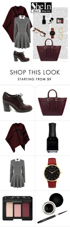 """""""Grey Long Sleeve Dress/Shein contest!!"""" by menoly ❤ liked on Polyvore featuring Steve Madden, Aspinal of London, Burberry, ORLY, Larsson & Jennings, NARS Cosmetics, Nouba and Marc by Marc Jacobs"""