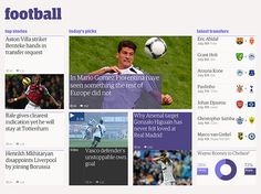 The Guardian redesign - Footballtest-4col