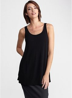 Eileen Fisher scoop neck long tunic in stretch silk jersey....have one....love it!