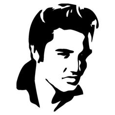 Decals - Stickers - Vinyl Decals - Car Decals for Windows, Vehicle Windows, Vehicle Body Surfaces, Motorcycles or just about any surface! Elvis Tattoo, Stencil Art, Stencils, Stencil Graffiti, Elvis Presley, Dibujos Pin Up, Young Elvis, Silhouette Art, Laptop Decal
