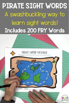 """Do you want to make the rote memory task of learning sight words into something fun for students? Make it a challenge! We took the first 200 Fry Sight Words and divided them into 20 levels in groups of 10. Each level has been given a pirate-themed name. In order to """"pass"""" a level and move to the next level, the student needs to read all of the words in a level with automaticity. Includes assessments, flash cards, certificates, and more. A swashbuckling way to learn and practice sight words!"""