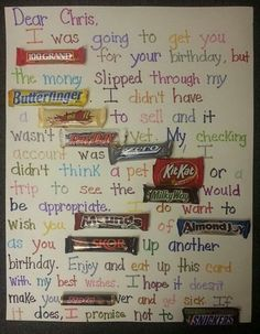 Candy Bar Poster Birthday Card, http://hative.com/candy-bar-poster-ideas-with-clever-sayings/