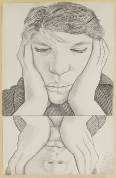 Lucian Freud 'Narcissus', 1948 © The Lucian Freud Archive