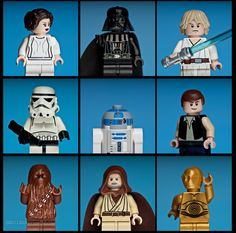 star wars personajes. lego