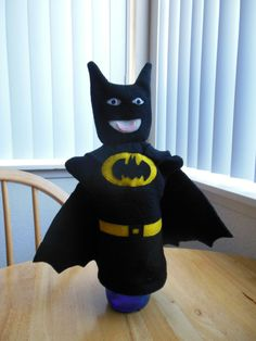 Hey, I found this really awesome Etsy listing at https://www.etsy.com/listing/197182191/batman-hand-puppet-with-cape