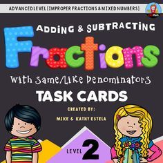 Add and Subtract Fractions with Same or Like Denominators (Advanced Level) $