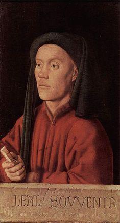 Jan van Eyck - Ritratto di giovane detto Timoteo    1432 - olio su tavola - 34,5x19 cm - Londra, National Gallery