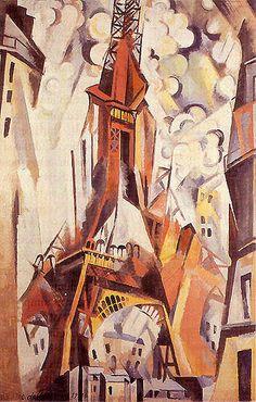 Robert Delauney, Eiffel Tower, c. 1910.