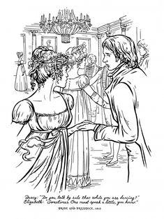 madame alexander coloring pages | Regency garden scene: bonnet, day dress and Spencer to ...