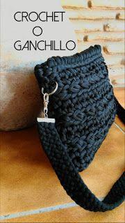 Crochet O Ganchillo: BOLSO DE TRAPILLO CON ASA KUMIHIMO