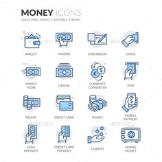 Line Money Icons Vector EPS. Download here: https://graphicriver.net/item/line-money-icons/17683764?ref=ksioks