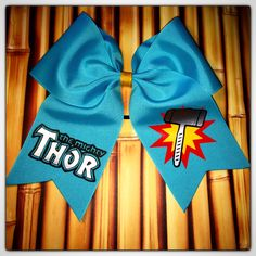 The Mighty Thor cheer bow.   www.facebook.com/MidnightBows  Instagram - @MidnightBows