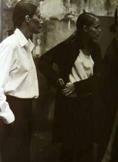 Vogue Italia 1998 Photographer: Peter Lindbergh Models: Marie-Sophie Wilson, Esther Canadas