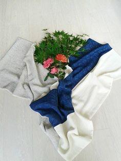 petal field blue silk scarf // free chant