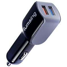 QC2.0 Car Charger: Lumsing 24W Dual Port USB Car Charger with Quick Charge 2.0 Technology for Samsung Galaxy S7/S6/ Edge/ Edge , Note 5/ 4/ Edge, LG G5, Nexus 6 and More, Black -- Details can be found by clicking on the image. (This is an affiliate link) #CellPhonesAccessories