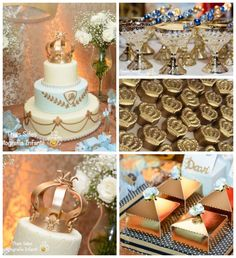 King + Prince themed birthday party with So Many Cute Ideas via Kara's Party Ideas | Cake, decor, recipes, favors, games, and MORE! KarasPar...