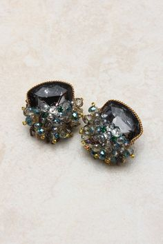 Emerald Crystal Collier Earrings