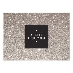 597147b669830 Glamorous Silver Glitter Modern Beauty Gift Card Christmas Salon