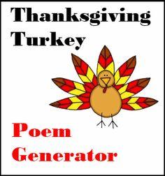 Thanksgiving Poem Generator