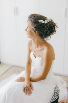 Fairytale bridal hairstyle at an Old World micro wedding in Corfu Isalnd Corfu Wedding, Greece Wedding, Fairytale Bridal, Corfu Island, Bridal Hairstyle, Island Weddings, Greek Islands, Old World, Hair Makeup