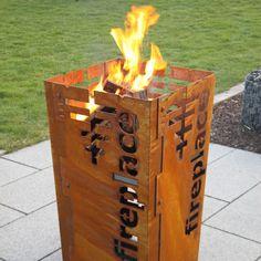 beheizbar mit Holz oder Kohle