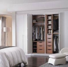 Best Ideas For Closet Doors Bifold Built Ins – Small Closet Redo, Walk In Closet Ikea, Modern Closet Doors, Bed In Closet, Small Closets, Closet Storage Bins, Best Closet Organization, Daybed With Storage, Bedroom Closet Storage