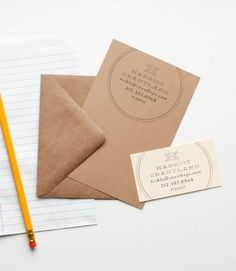 BUSINESS CARD STAMP  $72.00  These are perfect for branding several different stationery pieces - business cards, letterheads, notecards, etc etc! You can also mix things up with different ink and paper colors.