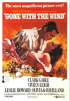 A perennial favorite and always a pleasure to watch! Vivien Leigh and Clark Gable are truly Scarlett O'Hara and Rhett Butler. Best Movie Posters, Classic Movie Posters, Classic Movies, Film Posters, Scarlett O'hara, Rhett Butler, Old Movies, Vintage Movies, Wind Movie