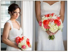 Gorgeous Coral and Ivory Bouquet