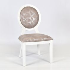 Overton White Oval Dining Chair, Set of Two
