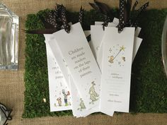 Storybook baby shower: Bookmarks for the guests
