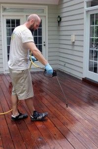 The sun plays the biggest part in drying out wood decks and furniture! Deck washing/cleaning can help prevent damage.