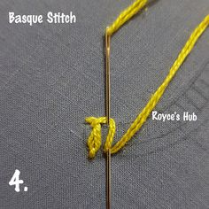 Basque Stitch is also known as Twisted Daisy Stitch. It is a combination of Detached Chain Stitch and Buttonhole Stitch. It is a beau...