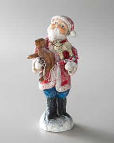 """Santa's Christmas Best"" Figure by Debbee Thibault at Neiman Marcus."
