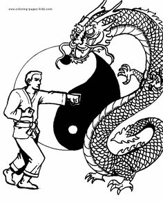 free karate coloring pages - photo#33