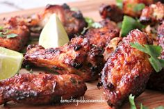 Grilled Coriander, Lime And Yogurt Chicken Wings