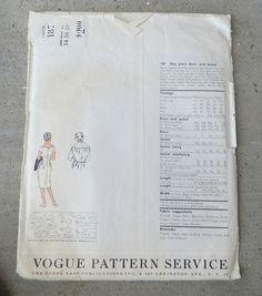 Vintage 1950s 1960s Vogue Couturier Dress Pattern Simonetta Uncut FF 34   eBay