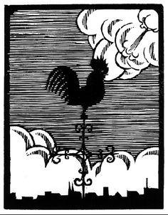 Flor de Pascua - The Weathercock - M.C. Escher, 1921