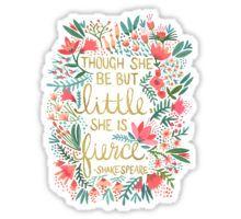 Little & Fierce Sticker