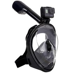 Rearview full face snorkel mask