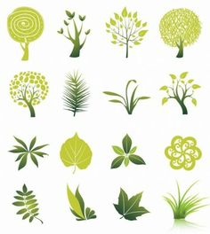 Tree and Leaf Vector Set, scaleable, leaves, branches, colour color variance Free Vector Graphics, Eps Vector, Logo Vert, Graphic Art, Graphic Design, Tree Graphic, Dora, Leaves Vector, Leaf Logo