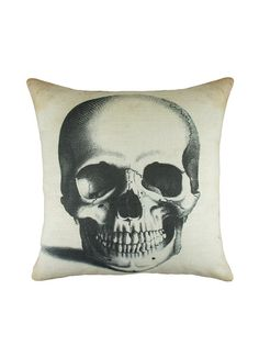Skull pillow #decor