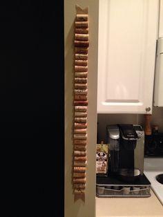 Wine cork cork board for the kitchen