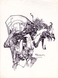 Magik & Warlock by Bill Sienkiewicz.