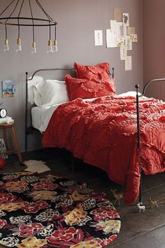Coral duvet from anthropologie  nice for a teen or young girl's bedroom www.myLusciousLife.com
