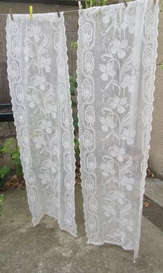 Reserved for Kim. Antique Curtains Cretonne early 1900s French ...