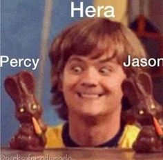 Imagen de percy jackson, hera, and jason